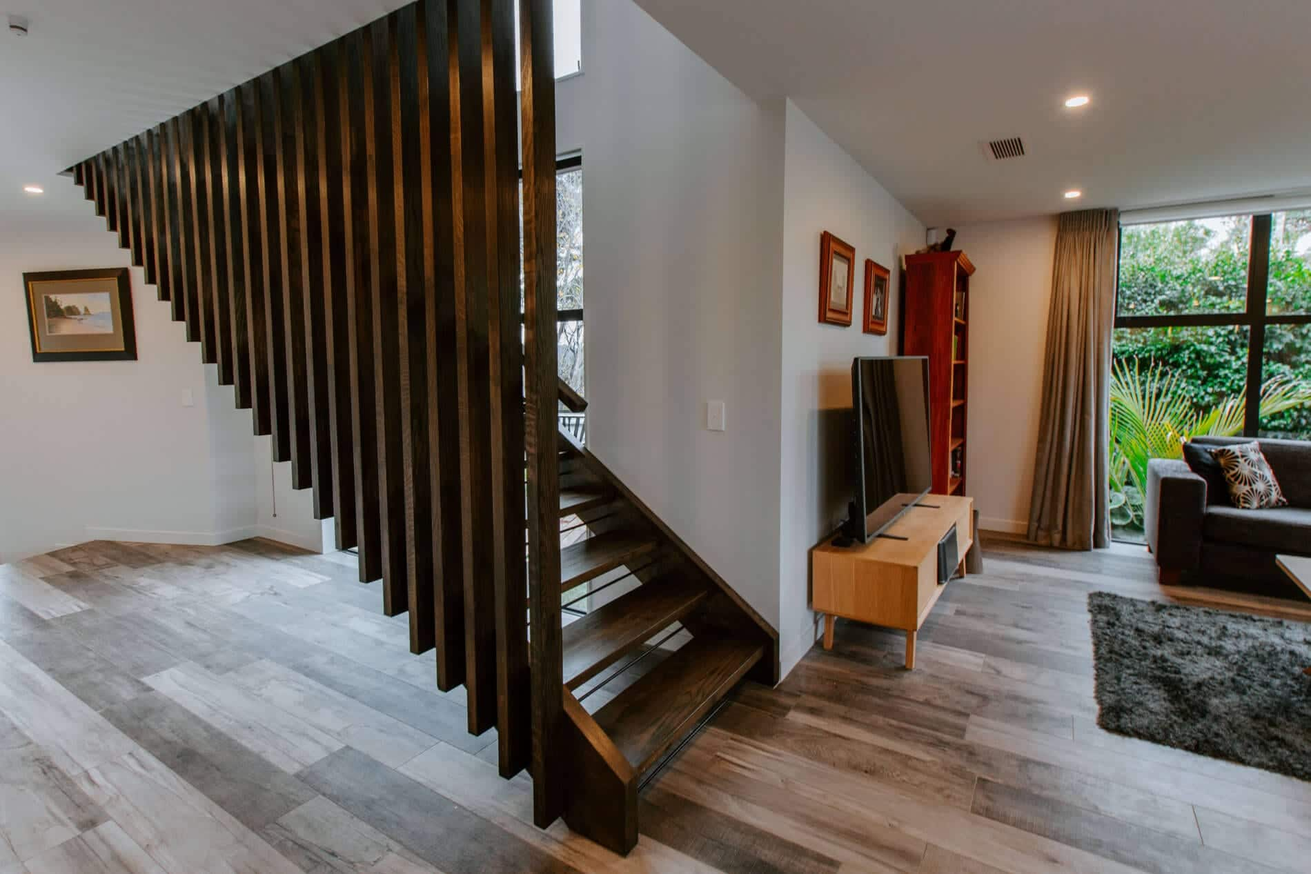 Timber Feature Stairs and Balustrade