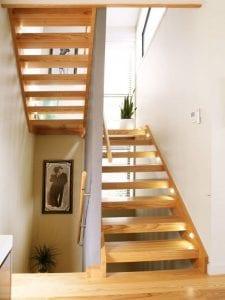 Interior timber stairs by Stylecraft Stairways
