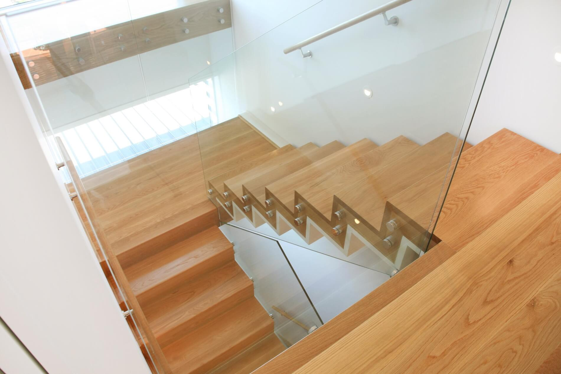 Glass Balustrades for Steel Stairs, Wooden Stairs - Auckland