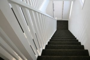 Carpet Stair and Timber Balustrade