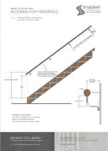 Where to Install Blocking for Handrails